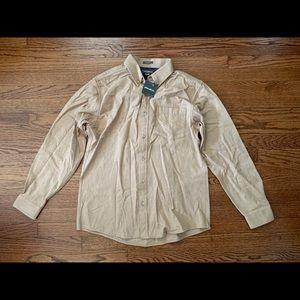 Eddie Bauer Khaki Men's Flannel Shirt (Medium)